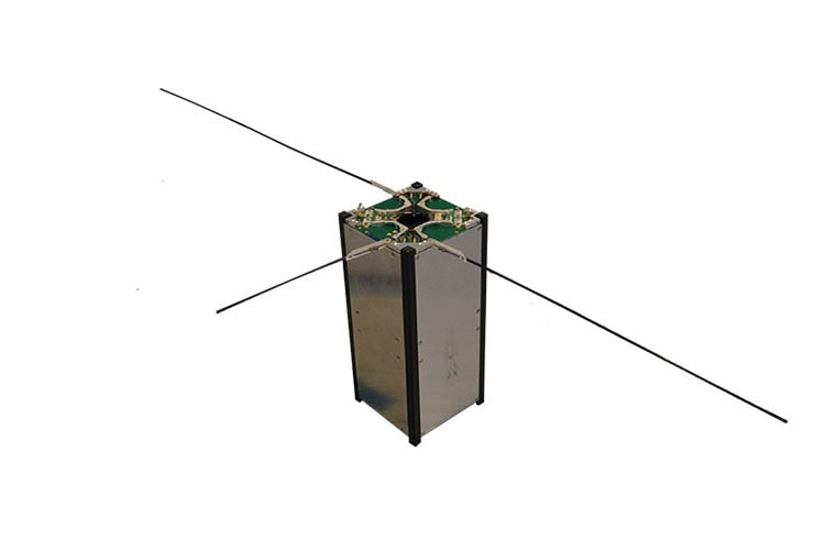 Small satellite antenna combined