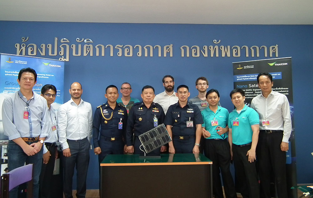 Successful delivery of 6U CubeSat and Ground Station to the Royal Thai Air Force