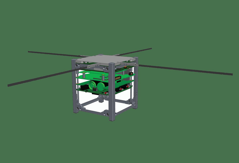 1U cubesat rendering