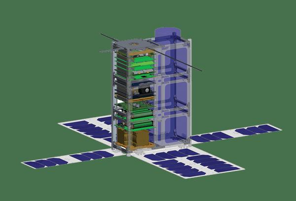 6U Cubesat rendering