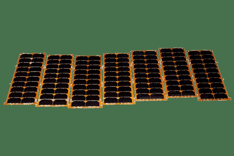 custom nanosatellite solar panels